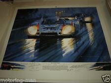 Watts più lungo sera GERARD Larrousse Kurt Ahrens ATTWOOD PORSCHE 917 AUTOGRAFATO