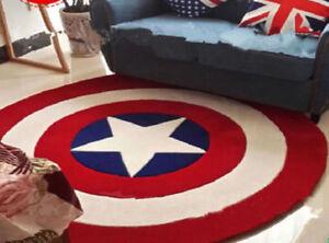 Avengers  Star Round Floor Rug Bath Bedroom Mat Living Door Mats