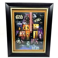 Star Wars Lucasfilm United States Postal Service Stamps Complete Set Framed
