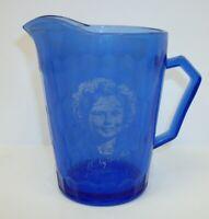 Vintage Shirley Temple Cobalt Blue Cream Milk Pitcher