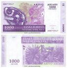 Madagascar 1000 Ariary (5000 Francs) 2004 P-89 Banknotes UNC