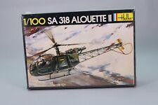 ZO012 HELLER 044 maquette helicoptere 1/100 SA318 Alouette II Police allemande