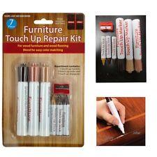 7Pc Wood Furniture Touch Up Kit Marker Pen Wax Scratch Filler Remover Repair Fix