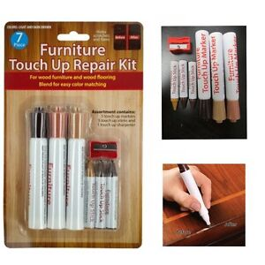 7pc Furniture Repair Wood Floor Touch Up Markers Fillers Scratch Cover Remover
