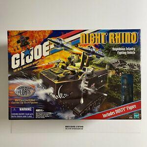 """2000 Hasbro GIJOE 3.75"""" ARAH Night Rhino with Dusty New Sealed"""