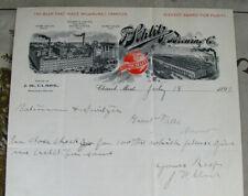#9 - fancy! 1899 old Schlitz Brewing Milwaukee Lager Beer Chinook Montana lettr