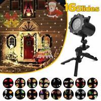 LED Lampe Projecteur Extérieur/Intérieur avec Télécommande avec 16 Scènes Noel