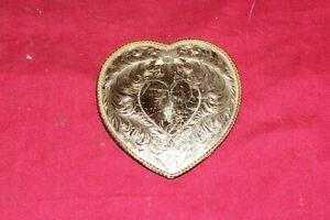 Women's Montana Silversmith German Silver Heart Cowgirl Western Belt Buckle Girl