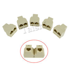 5x RJ45 CAT5 6 internet cable LAN Port 1 to 2 Socket Splitter Connector ISDN