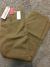 NWT Levis Straight Leg Chino Pant WStretch Mens Flat Front Brown 34X30 $59.50
