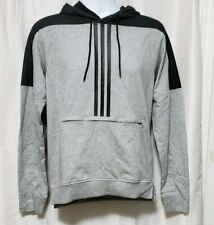adidas Mens Sport ID Pullover Cotton Hoodie - Small