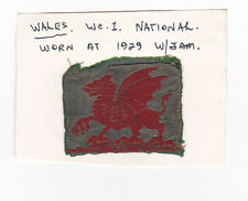 UK / BRITISH SCOUTS - WALES SCOUT NATIONAL EMBLEM (WORLD JAMBOREE 1929) PATCH