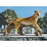 Leopard's Kingdom Design Toscano Exclusive Hand Painted Garden Statue