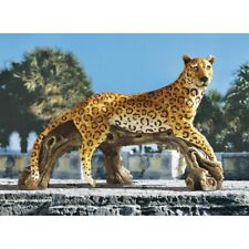 Leopard's Kingdom Design Toscano Exclusive Hand Painted Garden Statue