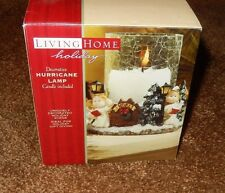 Living Home Holiday Decorative Hurricane Lamp Christmas Angels Has crackle glass