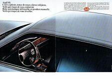 PUBLICITE ADVERTISING 017  1990  Audi V8  AM ( 2 pages)