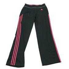 Adidas Femmes Droit Jambe Pantalon Taille M Noir Taille Basse Athlétique Loisirs