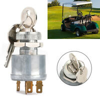 Key Switch for EZGO Cart - 4 Prong w/Factory Lights 81+Gas &Electric 33639G01 B4
