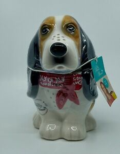 The Pioneer Woman Henry Bassett Hound Dog Cookie Candy Treat Jar Earthenware NEW