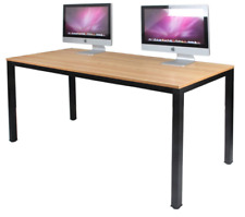 Computer Desk Commercial Heavy Duty All Wood and Metal Table Office Home 63 inch
