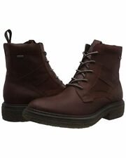 Ecco Men's Brown Crepetray Hybrid M Gore-Tex Combat Boots Size UK 10 EU 44