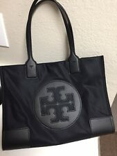 Tory Burch Ella Tote Black Nylon Bag Brand New