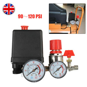 Air Compressor Pressure Control Switch Valve & Gauges 15A 230V Replacement Parts