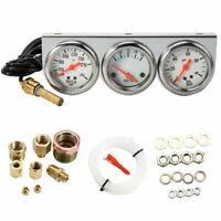 """2"""" Triple Gauge Kit 3in1 Water Temp Volt Oil Pressure Gauge Car Meter"""