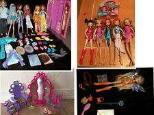 Winx Club Dolls with Magic wardrobe Cards Pixies Clothes & 7 Dolls Loose + More