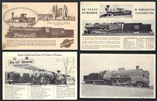US 1934 TRAINS & LOCO. A WORLD FAIR CENTURY OF PROGRESS IN CHICAGO 4 PC 3 UNUSED