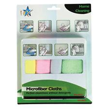 Lot de 4 Chiffons Microfibre Nettoyage cuisine salle de bain meubles miroir inox