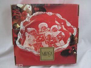 "Mikasa Carolers Sweet Dish NEW in Box 8.25"""