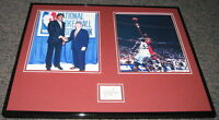 Hakeem Olajuwon Signed Framed 16x20 Photo Set JSA Rockets Akeem Signature