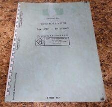 Rhode & Schwarz Video Noise Meter Type UPSF Instruction Manual