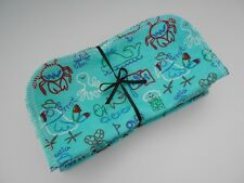 """Cloth Wipes 20 Baby Diaper Flannel 8""""x8"""" Boy Nautical Pirate Sailor 1 or 2 Ply"""