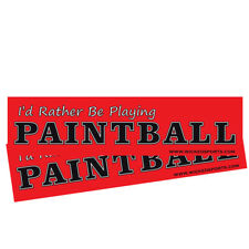 Wicked Sports Bumper Sticker - 2 Pack - I'd Rather Be Playing Paintball - Red