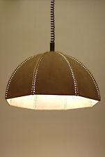Vtg Retro MCM 60s/70s Danish MOD Leather RETRACTABLE Ceiling LIGHT Lamp LAMPEN !