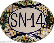 Mexican Ceramic Talavera Custom Wall House Address Plaque  # 07