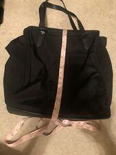 BURBERRY Women's Black Nylon Leather Trims Nova Check Packable Tote Bag