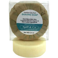 Shaving Soap Puck Caribbean Bay Rum Shaving Soap Refill 4.4 oz By Spiff And Co