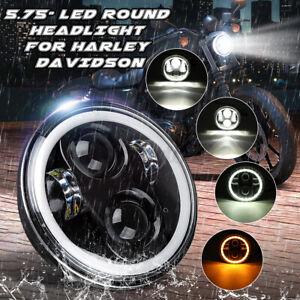 "5-3/4"" 5.75"" Motorcycles Round LED Projector Headlight Hi/Lo For V-Star XVS 650"