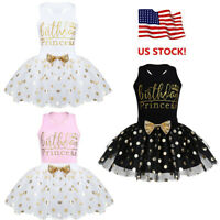 Baby Kids Girls Birthday Clothes Outfit Bow Tutu Skirt Dress+Top Shirt Party Set
