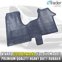 New Shape Vauxhall Vivaro Van 2014 Onwards Black Rubber Floor Mat Set Mats HDuty