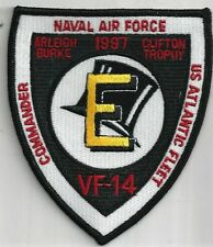 USN VF-14 PATCH -  'E' AWARD     1997    ABOARD ARLEIFH BURKE              COLOR
