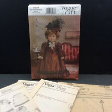 """Vogue Craft 18"""" Doll Historical Clothes Sewing Pattern 7098 683 Linda Carr"""