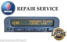 SAAB 93 95 SID1 INFORMATION RADIO DISPLAY CLOCK 5038195 - PIXEL REPAIR SERVICE