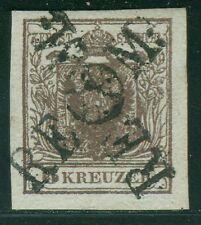 Österreich 1850 Langstempel RECOM kreuzweise auf 6 Kreuzer Type I b Befund BPP