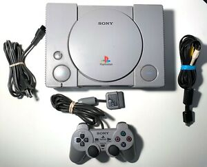 Sony Playstation 1 PS1 Console with Cables & Original Controller TESTED WORKING!