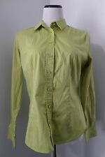 NEW YORK & COMPANY Light Green Stretch Button Down Blouse Size M