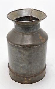 Antique Iron Milk Can Pot Original Old Hand Crafted Nice Shape